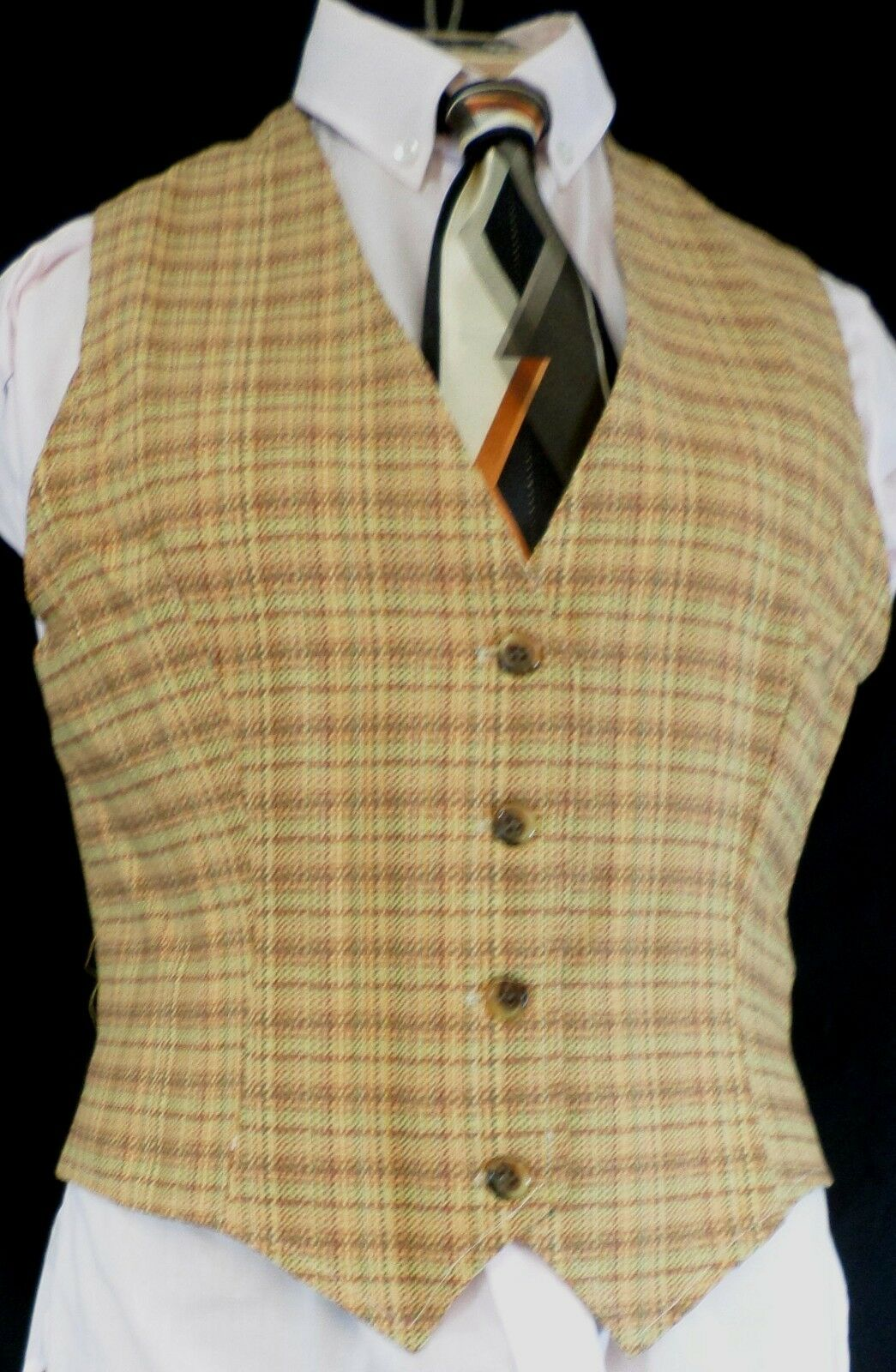 Reed Ladies Hill Saddleseat Vest Ladies Reed verde / Tan Tweed 24 - Made in USA 5455e2