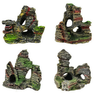 Aquarium-Mountain-View-Rock-Cave-Tree-Bridge-Fish-Tank-Ornament-Rockery-Decor