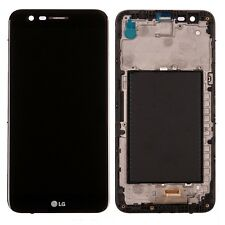 TOUCH SCREEN VETRO + LCD DISPLAY PER LG K10 2017 M250N CON FRAME NERO SCHERMO