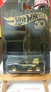 Hot-Wheels-50-Th-Anniversary-Black-amp-Gold-Rodger-Dodger-N9