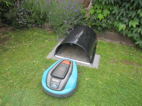 Rasenroboter in modernem Design Größe A Carport für Mähroboter Garage