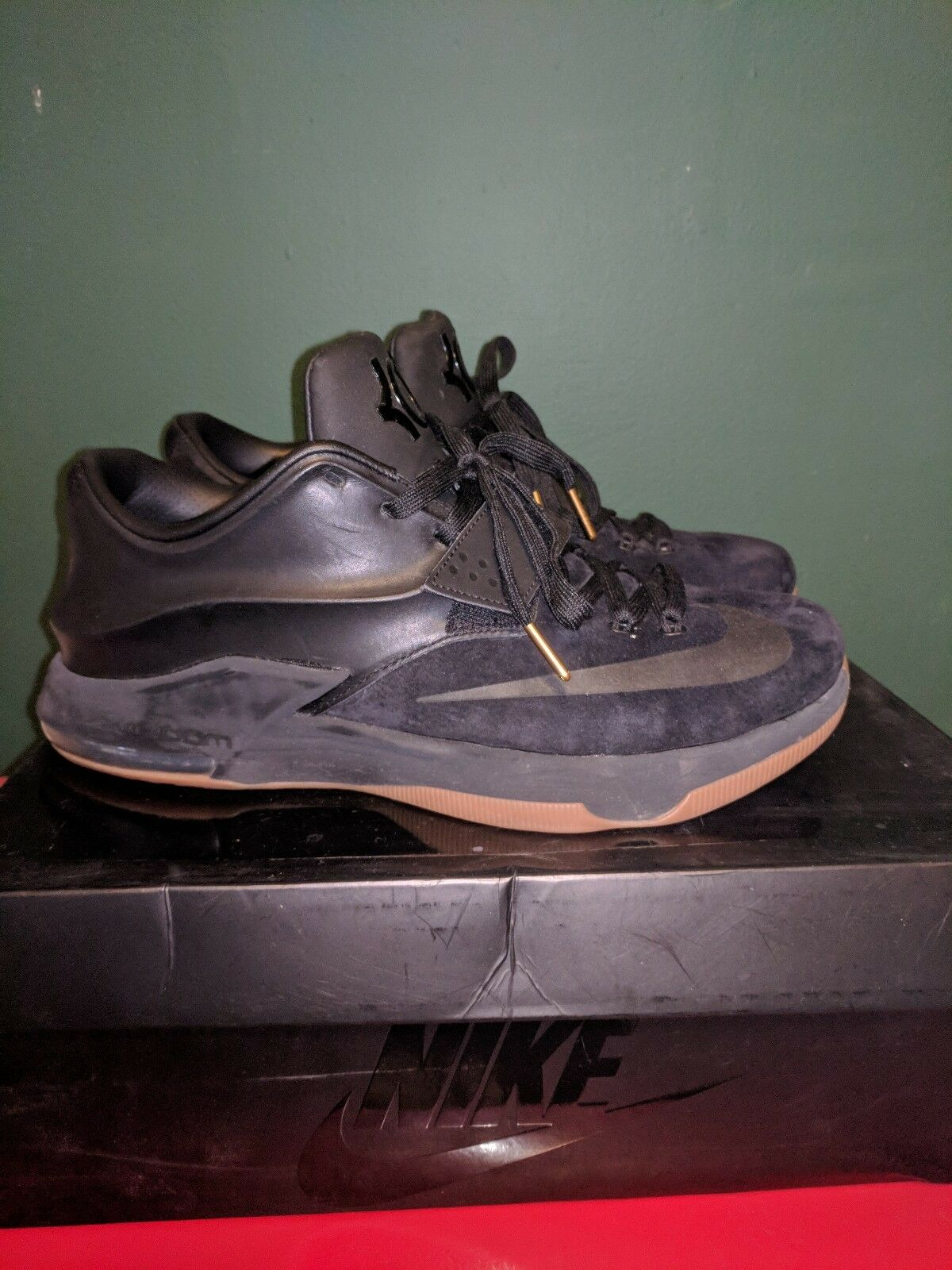 Nike, Kevin Durant VII Ext Suede QS, Black, Mens Basketball size 12