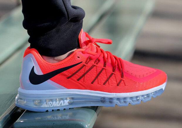 Nike Air Max 2015 Running Running Running Sneakers New, Bright Crimson Orange 698902-600 SKU AA 1c616b
