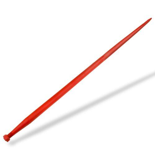 gerader Frontladerzinken 1400 mm 22x1.5 Ballenzinken Zinken rot Doppel T Profil