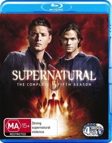1 of 1 - Supernatural : Season 5 (Blu-ray, 2010, 4-Disc Set)