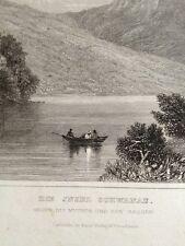 Stahlstich Insel Schwanau