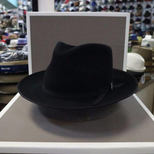 STETSON STRATOLINER BLACK FUR FELT C-CROWN DRESS HAT