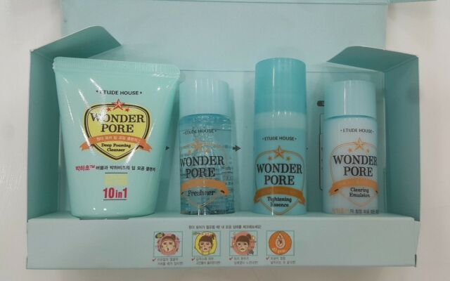 (3 Pack) ETUDE HOUSE Wonder Pore Tightening Set Professional Strength Brightening Facial Cleanser - 4 fl. oz. by Reviva Labs (pack of 6)