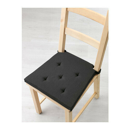 Ordinaire Ikea Justina Chair Pad Black Indoor Outdoor Patio Office Seat Cushion  203.044.25