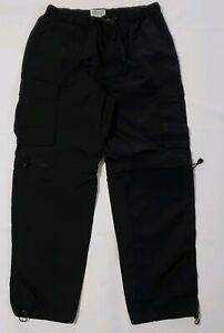 Roundtree-Yorke-Mens-Size-Large-Black-Convertible-Nylon-Pants