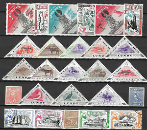 LUNDY-IS-GREAT-BRITAIN-GB-COLLECTION-PACKET-of-25-Different-STAMPS-USED