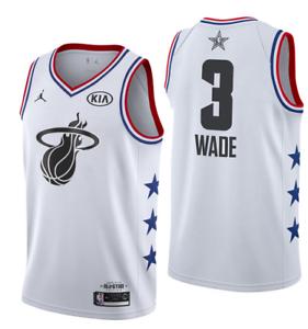 59651508f08 NWT all star Miami Heat Dwyane Wade #3 Men's white jersey S-2XL | eBay