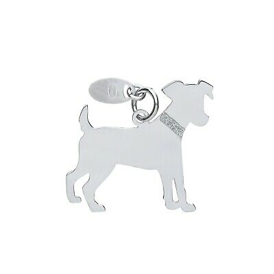 "Jack Russell Dog Pendant Solid Silver 925 Hallmark Pet Jewellery 14-30"" Chain"
