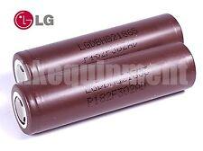 LG HG2 3000mAh INR18650 LiMn IMR 3.7v Flat Top 18650 Battery x2