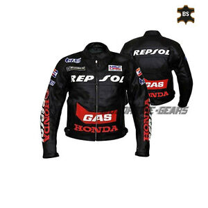 Black-leather-jacket-repsol-racing-motorbike-gear-any-size-mens-riding-apparel