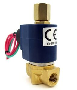 1-4-034-Electric-Solenoid-Valve-3-WAY-110-120VAC-inlet-outlet-exhaust-air-etc-B30V