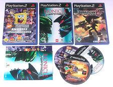 3 Spitzen KINDER Spiele für Playstation 2 z.B. SONIC SHADOW; LEGO BIONICLE; SPON