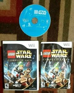 LEGO Star Wars The Complete Saga Complete (Wii, 2007) Good Shape & Tested
