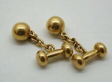 """Victorian Very Unusual 18ct Gold """"Dumbell"""" Shaped Cufflinks"""