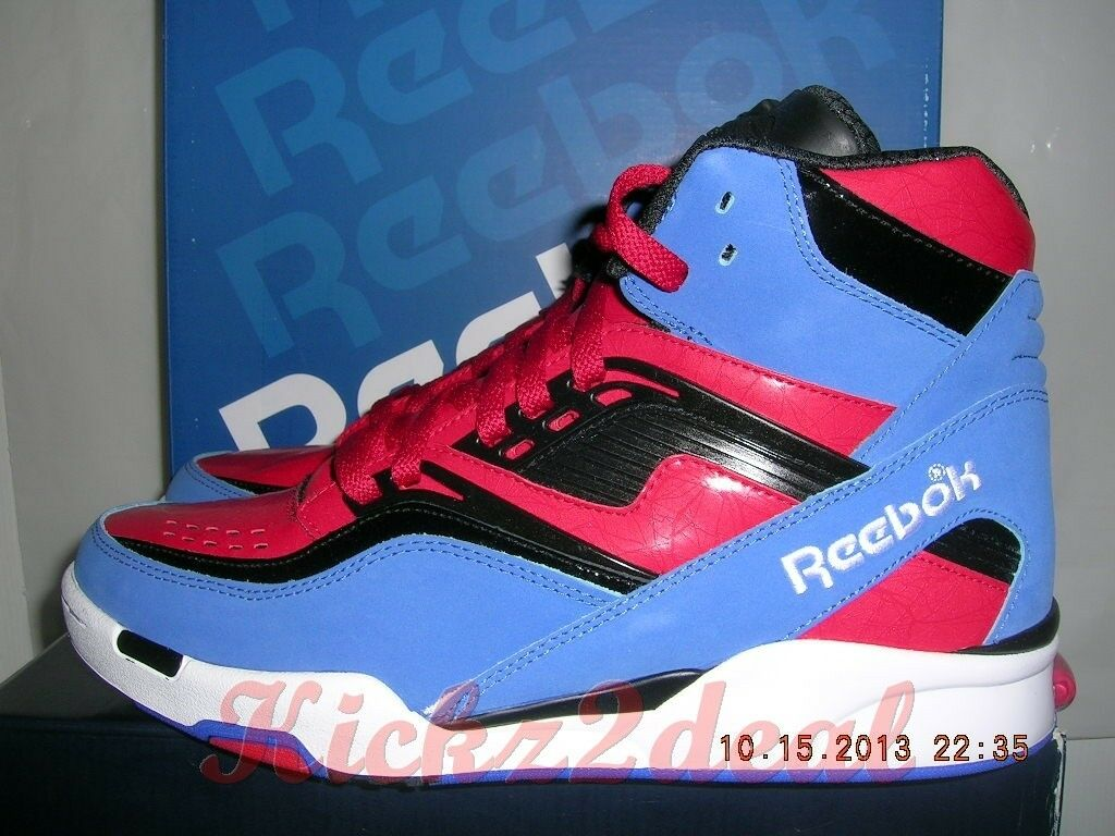 DS REEBOK TWILIGHT ZONE PUMP Dominique Wilkins Spider-Man Red Wht bluee MENS SZ 8