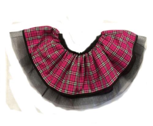 NEON TUTU SKIRT 80/'S FANCY DRESS HEN PARTY PINK TARTAN KILT PUNK GOTHIC ONE SIZE