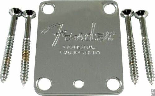 Telecaster L@@K!!!!!!!! Fender Neck plate chrome 4-bolt American Stratocaster
