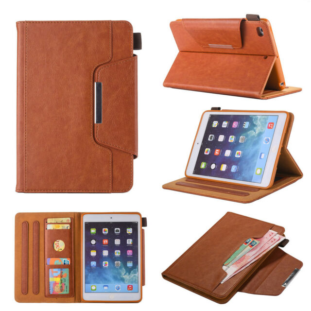 For iPad Mini 1234 Air Pro 2 9.7 Flip Leather Wallet Hardware Buckle Case Cover