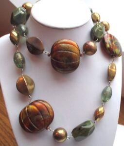 Humble Unique Bijou Rétro Grand Collier Sautoir Couleur Or Chaîne Perles Atypiques 786 Et Aide à La Digestion