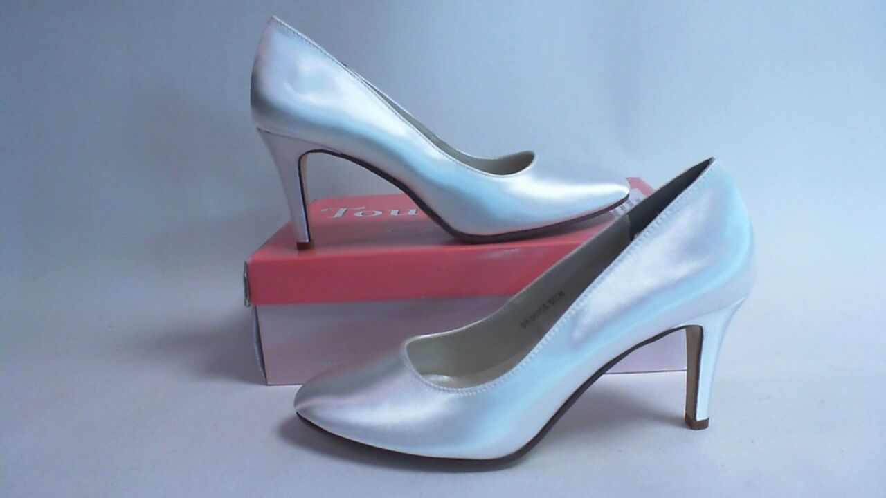 Touch Ups Wedding Shoes   White   Sandra   US 11M UK 9 #12R556