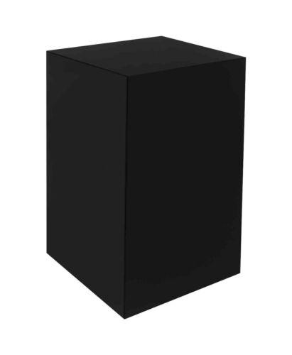 "5 Sided Display Box Cube Pedestal Bin Stand for Art 12/""w x 12/""d x 19/""h Black"