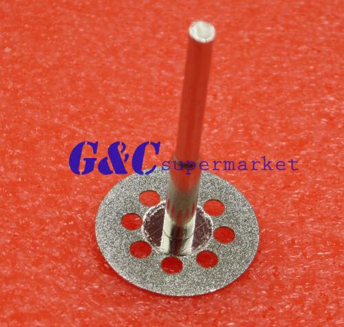 10PCS Mini 22mm Vented Rotary Diamond Cutting Disks+Mandrel Dremel Tools DIY