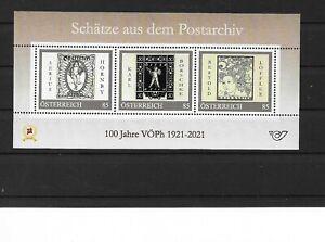 Österreich PM  personalisierte Marke Block Schätze aus dem Postarchiv **
