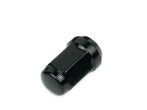 "2Pcs Bulge Acorn Lug Nuts M12x1.5 Black 1.4/"" Tall"