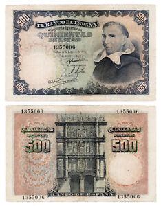 BILLETE-500-PESETAS-ESTADO-ESPANOL-PADRE-VITORIA-1946-SIN-SERIE-XF-EBC