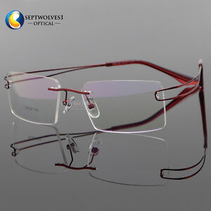 fd0a3d2f93 Image is loading New-Titanium-Alloy-Rimless-Flexible-Reading-Glasses -Optical-