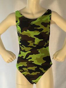 Girls-1-Piece-Swimwear-BNWT-Green-Camo-10-12