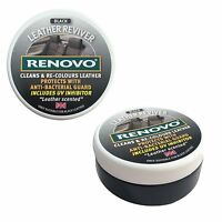 Renovo Black Leather Car Seat Reviver 200ml