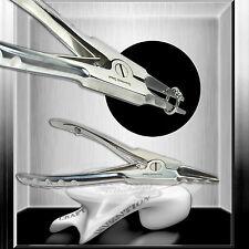Mehrweg Piercing Zange ★ RING OPENER / ÖFFNER ★ Doppelgefedert mit 3 Sperrkerben