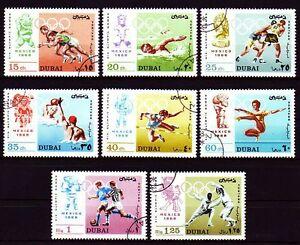 Dubai-1968-Mi-315-22-A-fine-used-c-t-o-Olympische-Spiele-Olympic-Games