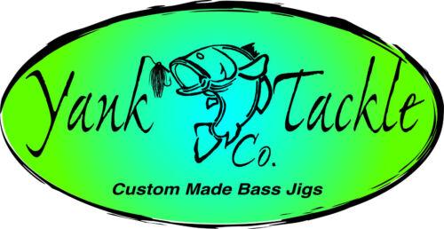 Yank Tackle Custom Swim Jig Lot Of 3 Blue Glimmer Shad 3//8 Oz Jawbreaker Jig
