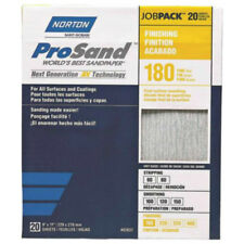 Sandpaper Sheet,Fine,180 Grit,PK20 NORTON 07660768168