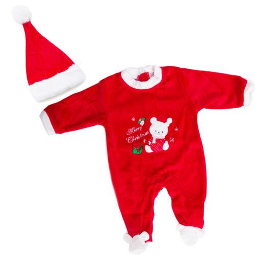 Bambino bambina unisex neonato tutina Natale cappellino pagliaccetto DJ-863