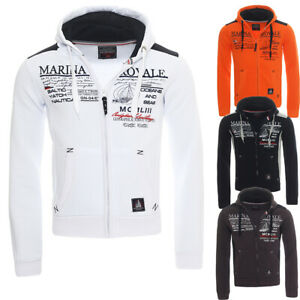 Details about Geographical Norway Griana Hoodie Sweat Jacket Jumper Cardigan S XXL