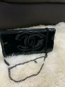CHANEL Gloss Black Sling Bag