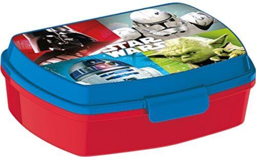 Star Wars rosso LUNCH BOX  scatola colazione porta PRANZO MERENDA scuola,asilo
