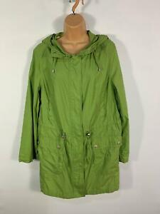 WOMENS-MAINE-NEW-ENGLAND-GREEN-LIGHT-WEIGHT-CASUAL-RAIN-COAT-HOOD-PLUS-SIZE-18