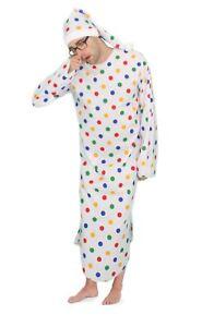 Adults-Size-Children-in-Need-Polka-Dot-Night-Gown-amp-Bed-Cap-CIN-Fancy-Dress