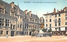 B3914 France Grenoble La Place Saint Andre et le Palais de Justi front/back scan