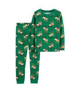 ad1c40189 Boy Carter s Child of Mine Green Christmas Reindeer Cotton 2 Piece ...