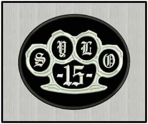 Custom Embroidered Knuckle Logo Motorcycle Biker Sew on Round Patch